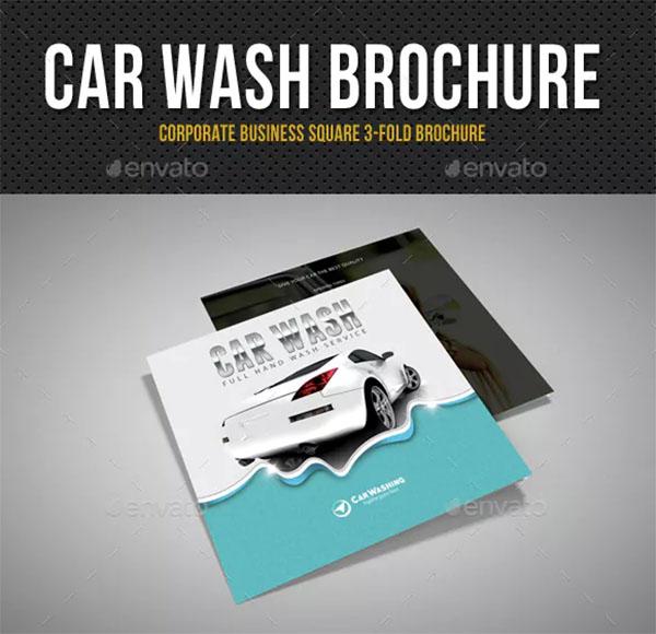 Car Wash Square 3-Fold Brochure