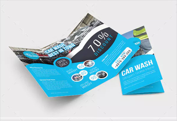 Car Wash Trifold Brochure Design