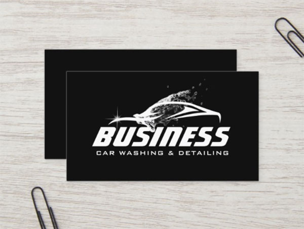 Car Washing Automotive Business Card