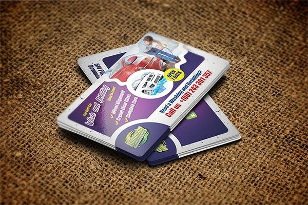 Car Washing Business Card Template