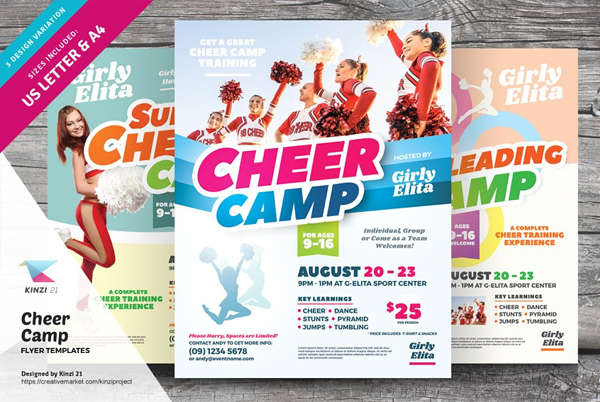 Cheer Camp Flyer Contest Templates