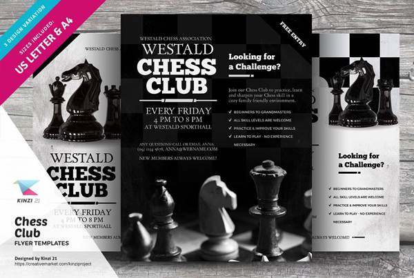 Chess Club Flyer Templates
