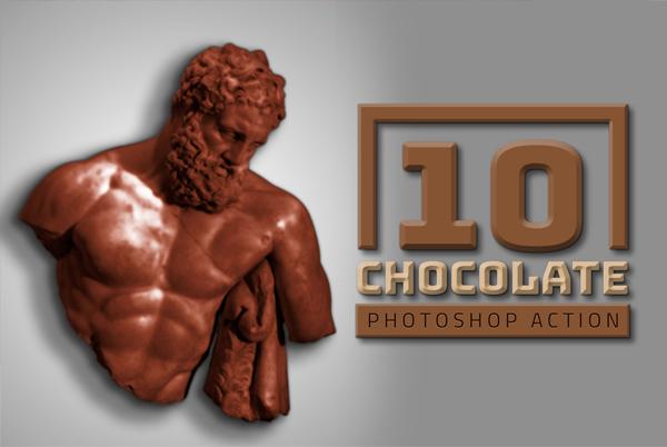 Chocolate Liquid Photoshop Actions