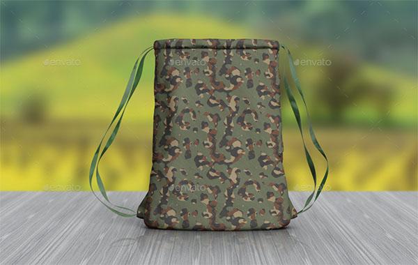 Cinch Backpack Mockup