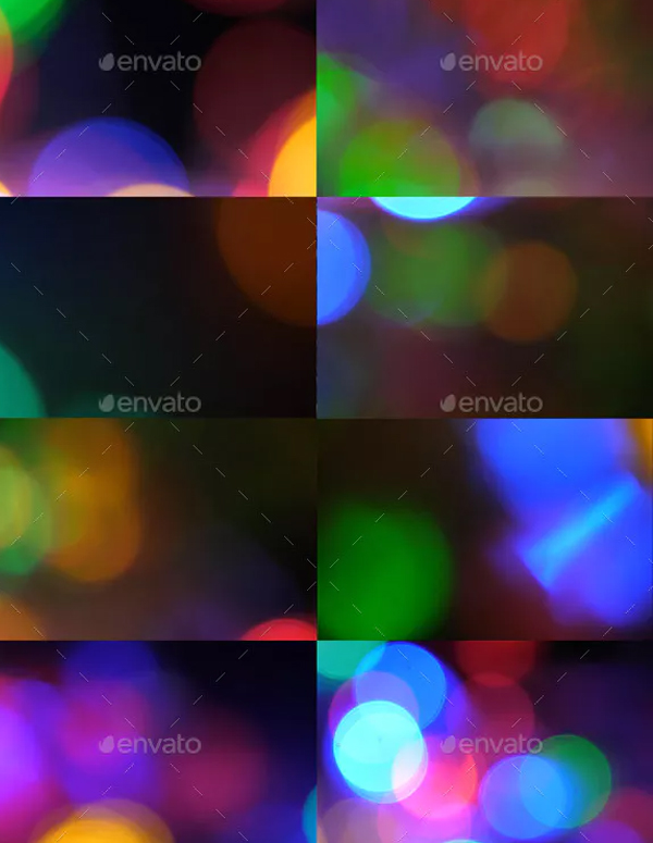 Cinematic Bokeh Light Leaks Overlays