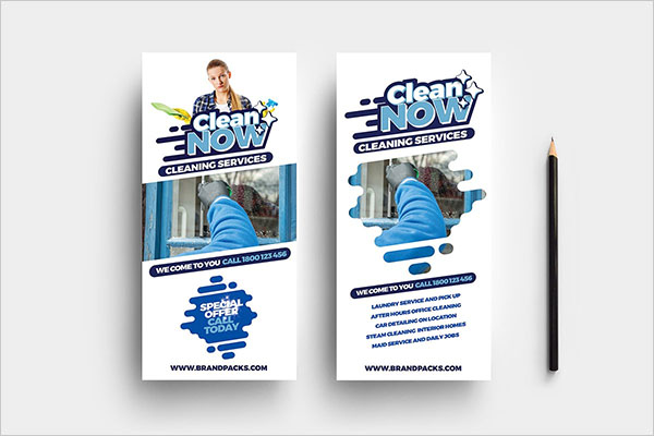 Cleaning Service Rack Card Template