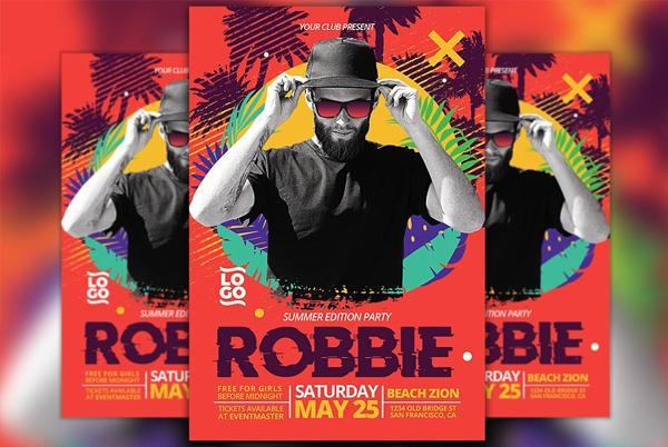 Club DJ Summer Edition Flyer Template