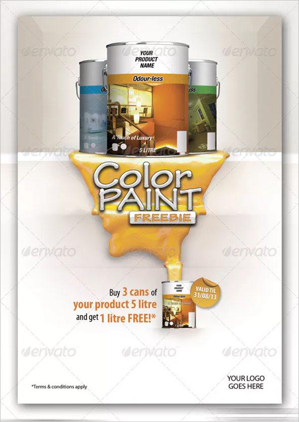 Color Paint Freebie Flyer Template
