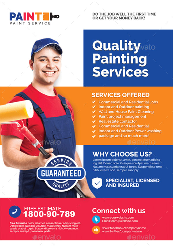Commercial Painting Service Flyer