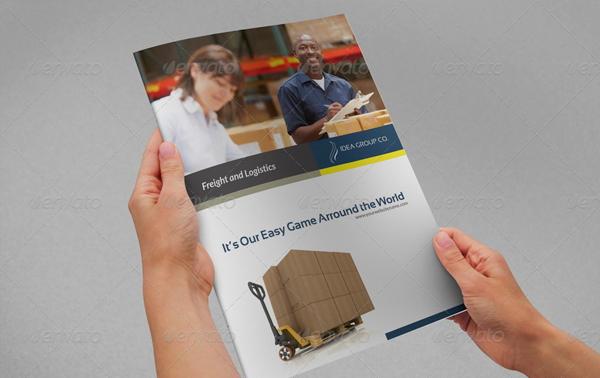 Company Brochure Logistic Template