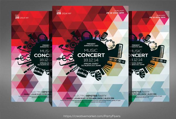Concert Dj Flyer Template