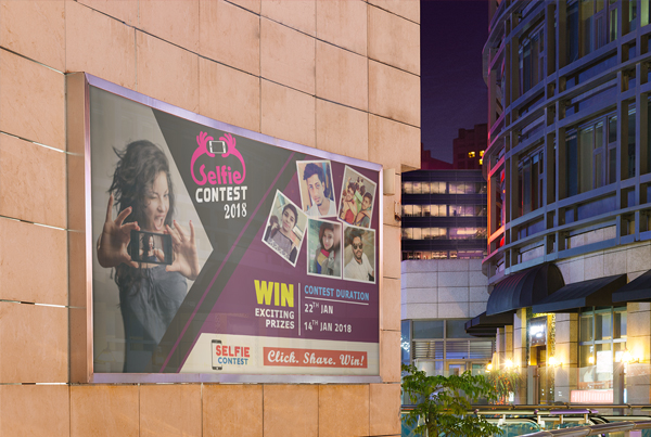 Contest Billboard Free PSD Template