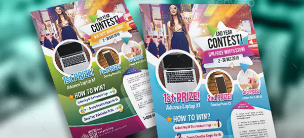 Contest Flyer Magazine Ads Template