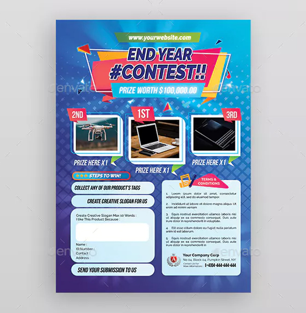 Contest Flyer Print Template