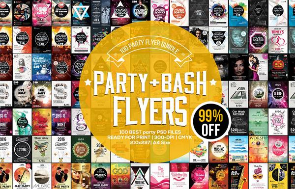 Contest Party Flyers Bundle