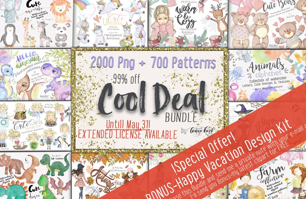 Cool Deal Spring Easter Banners Bundle