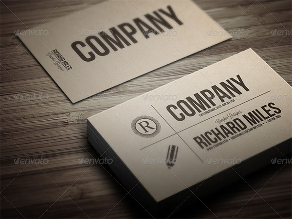 Corporate Vintage Business Card