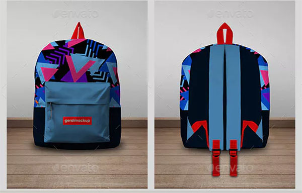 Creative Backpack Mockup