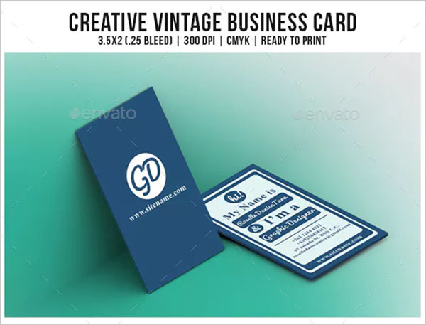 Creative PSD Vintage Business Cards