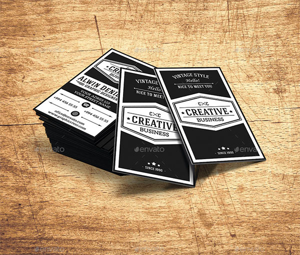 Customizable Vintage Business Card