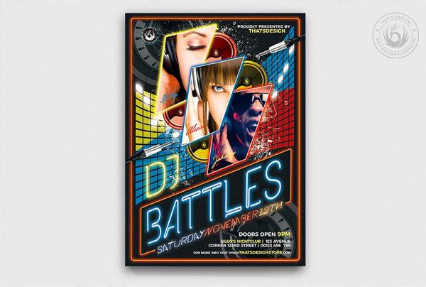 DJ Battle Flyer Template