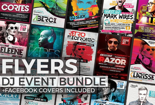 DJ Event Flyers and Facebook Covers