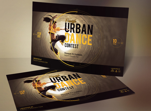 Dance Contest Flyer Design Template