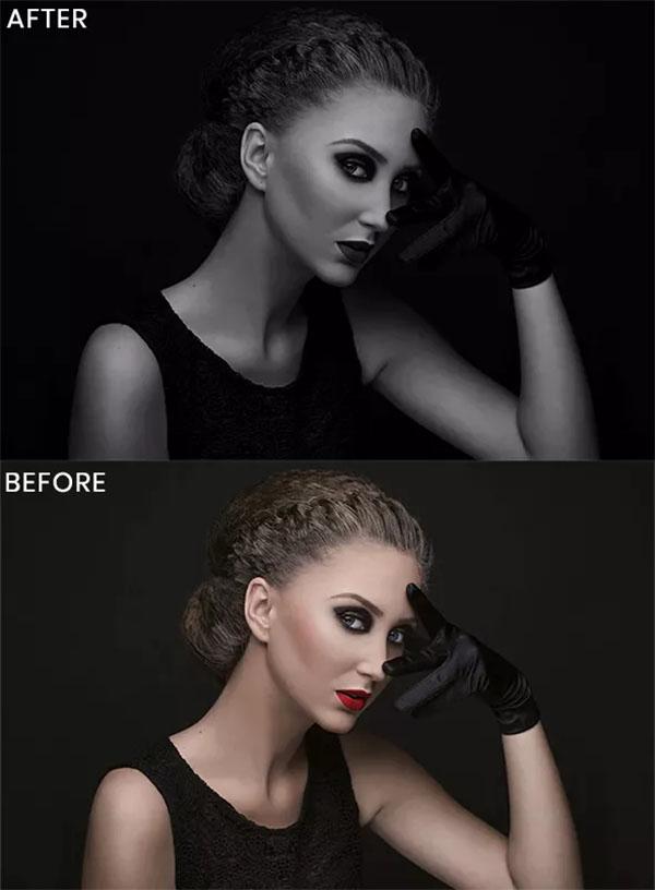 Dark Black Photoshop Action