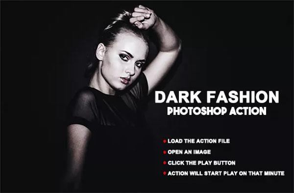Dark Fashion Photoshop Action