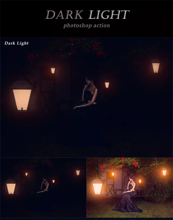 Dark Light Photoshop Action Design