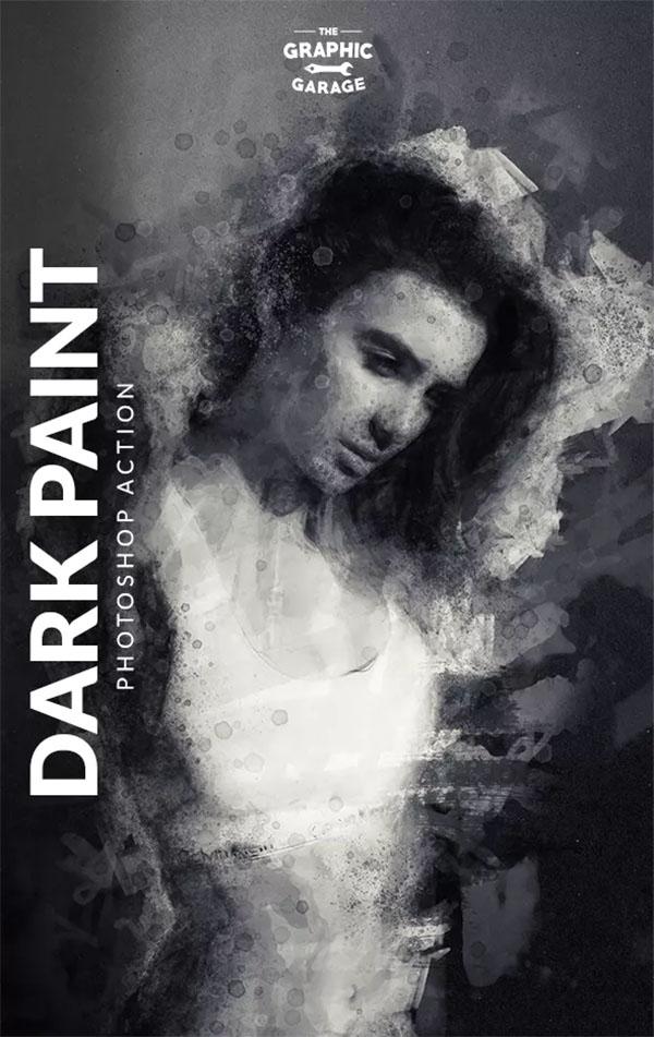Dark Paint Photoshop Actions