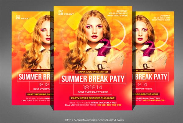 Dj Summer Break Party Flyer Template