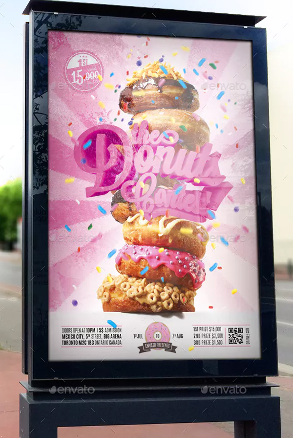 Donuts Contest Flyer Design
