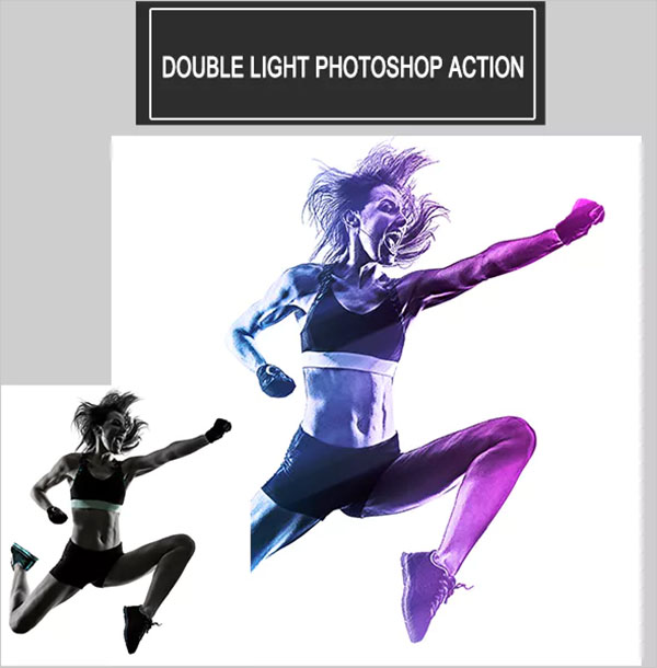 Double Light Photoshop Action Design
