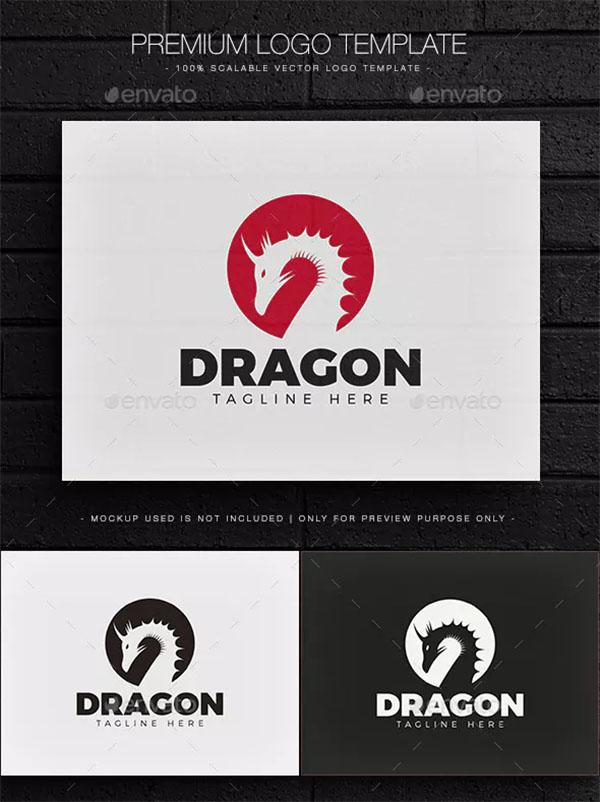 Dragon Attractive Logo Design