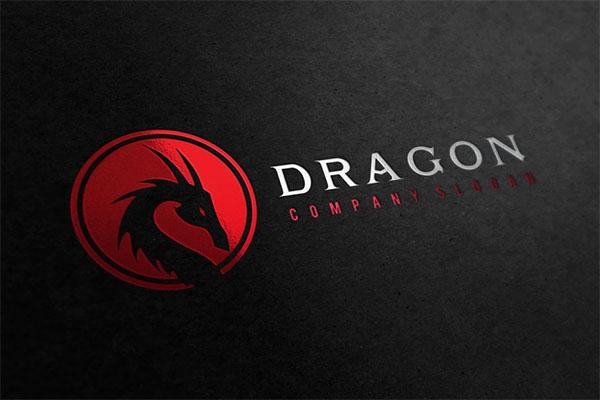 Dragon Branding PSD Logo