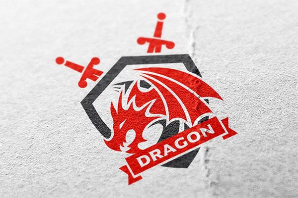 Dragon Force Logo Design