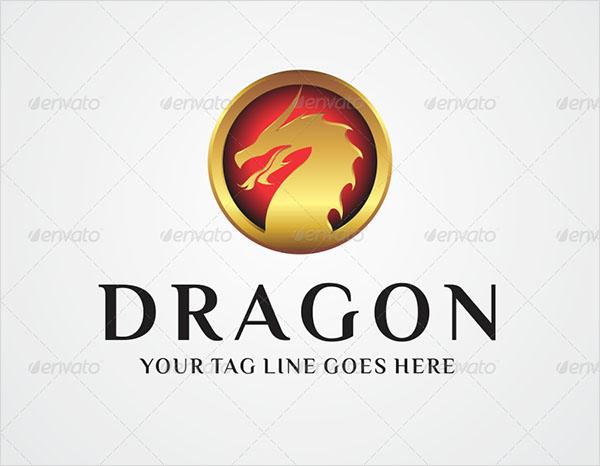 Dragon Logo PSD Design
