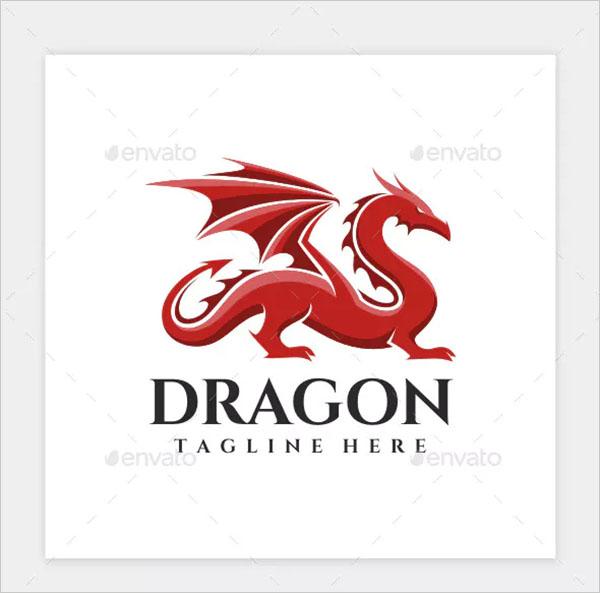 Dragon Logo PSD Template