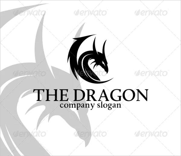 Dragon Logo Simple Vector Template