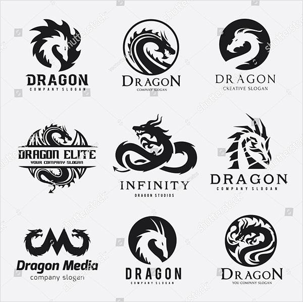 Dragon Logo Vector Set