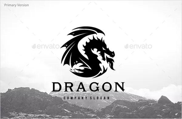 Dragon PSD Logo Design