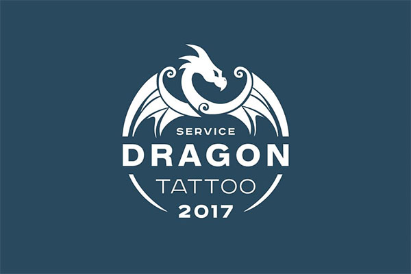 Dragon Tattoo Logo Design
