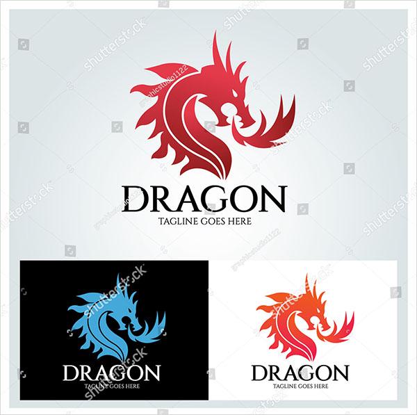 Dragon Vector Logo Design Template