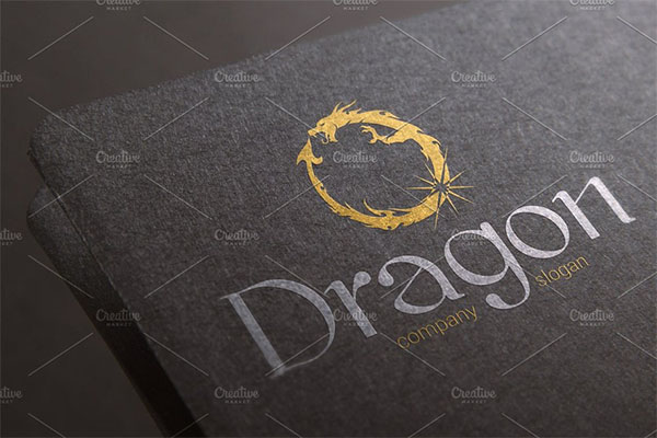 Dragon Visual Logo Design Template