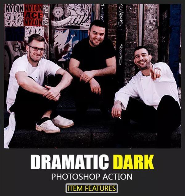 Dramatic Dark Action Photoshop