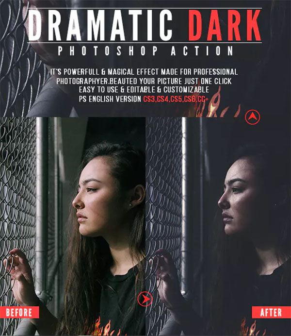 Dramatic Dark Photoshop Actions