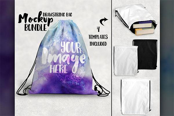 Drawstring Bag Mockup Design