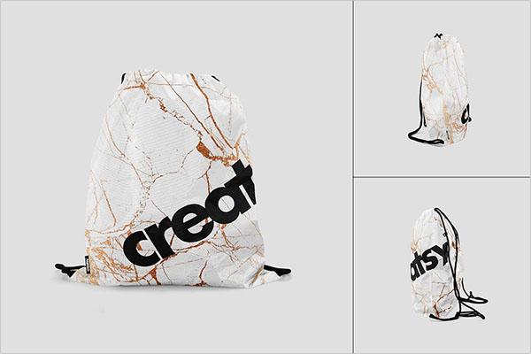 Drawstring Bag Mockup Set