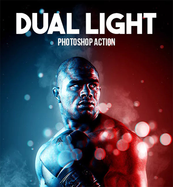 Dual Light Photoshop Action